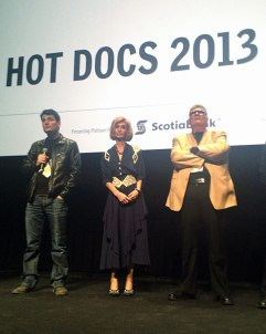 """The Manor"" was chosen as the opening night film for Hot Docs 2013. Left to right: director Shawney Cohen with parents Brenda and Roger Cohen."