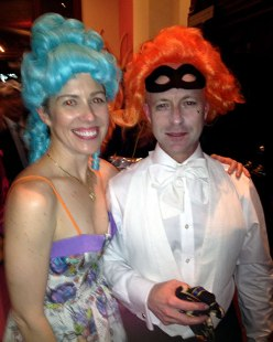 "Director Christine Beebe and producer Robert Dassanowsky celebrate in style at the party for ""Felix Austria!"""