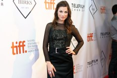 Meghan Heffern, star of The F Word attends the party for Women In Film