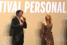 "Director Jonathan Glazer and actress Scarlett Johansson at the Q&A for ""Under The Skin"""