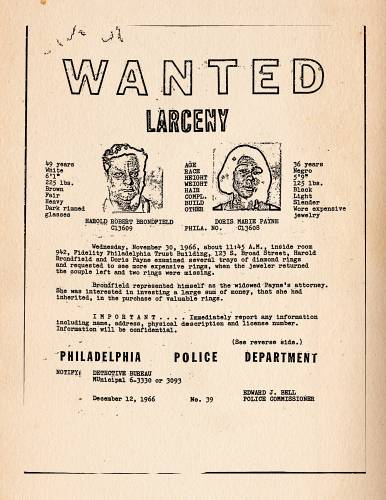 wanted poster Doris and Babe The Life and Crimes of Doris_Payne_2