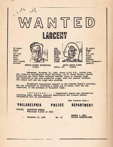 wanted poster Doris and Babe The Life and Crimes of Doris_Payne_2