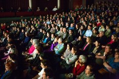 Audiences pack the Isabel Bader theatre to see Barbara Kopple speak