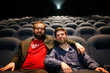 "Directors Jaret Belliveau & Matthew Bauckman after the screening of their film ""Kung Fu Elliot"""