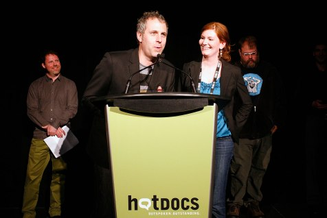 "Grant Baldwin and Jen Rustemeyer took home the Emerging Canadian Filmmaker Award for ""Just Eat It: A Food Waste Story"""
