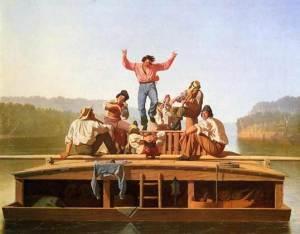 The-Jolly-Flatboatmen George Caleb Bingham org