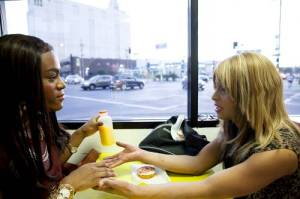 Mya Taylor and Kitana Kiki Rodriguez in TANGERINE, a Video Services Corp release. Photo courtesy of Video Services Corp.