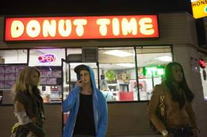 Kitana Kiki Rodriguez, James Ransone and Mya Taylor in TANGERINE, a Video Services Corp. release. Photo courtesy of Video Services Corp.