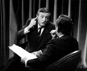 William F. Buckley Jr. and Gore Vidal in BEST OF ENEMIES, a Video Services Corp. release. Photo courtesy of Video Services Corp.