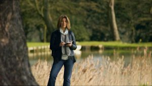 Naomi Klein at Chicheley Hall in the United Kingdom. Still from THIS CHANGES EVERYTHING, a Video Services Corp. release