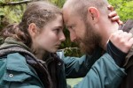 Thomasin Harcourt McKenzie and Ben Foster in LEAVE NO TRACE, an Elevation Pictures. Credit Scott Green